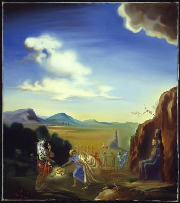 Salvador Dali. Moses and Pharaoh
