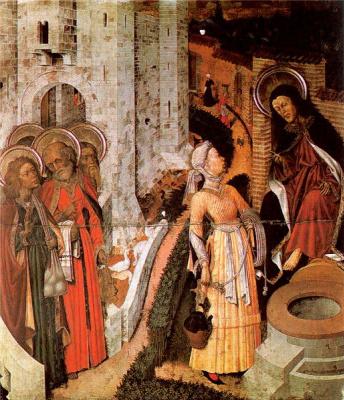 Бернат Марторель. Христос и самаритянка