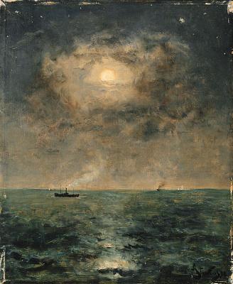 Alfred Emil-Leopold Stevens. Lunar landscape