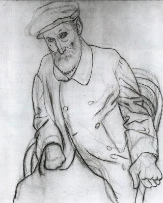 Пабло Пикассо. Портрет Огюста Ренуара