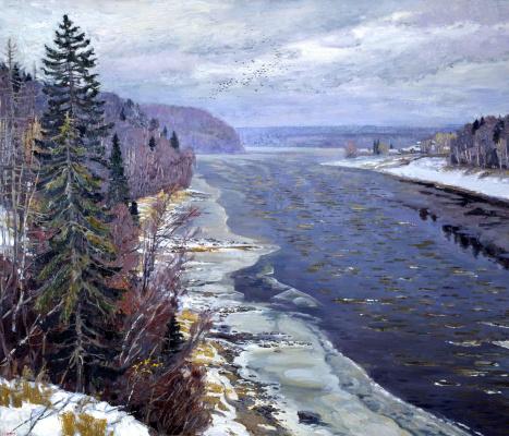 Ivan Glazunov. First snow on the Dvina