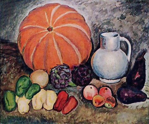 Ilya Ivanovich Mashkov. Still life with vegetables