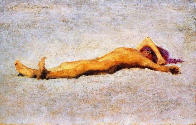 Джон Сингер Сарджент. Солнечные ванны. Обнаженный мальчик на пляже