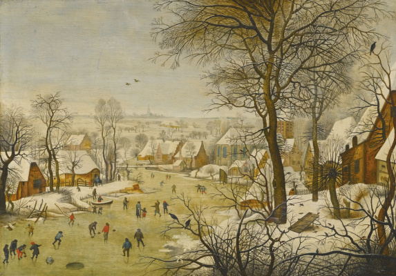 Peter Brueghel The Younger. Winter landscape. Trap for birds