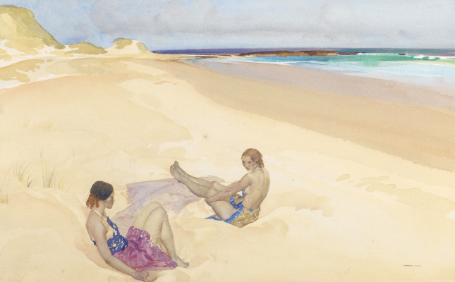 William Russell Flint 1880 - 1969 Scotland. Jessica and Doreen.
