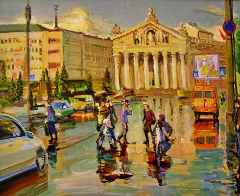 Evgeny Anatoleviz Babushkin. Avenue after the rain