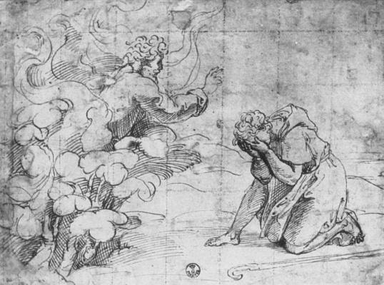 Джованни Франческо Пенни. Бог является Моисею в Неопалимой купине