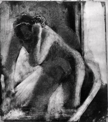 Эдгар Дега. Женщина за туалетом