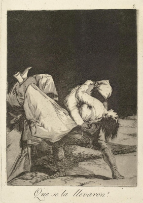 """Francisco Goya. """"She's been kidnapped!"""" (Series """"Caprichos"""", page 8)"""