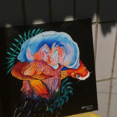 Persephone Saved. Carp and jellyfish