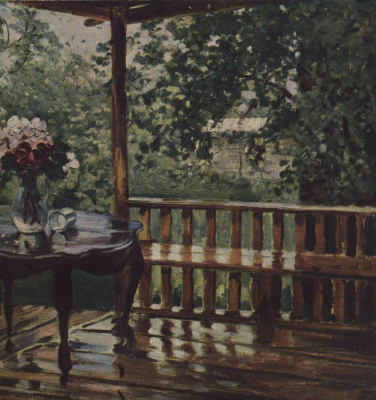 Alexander Mikhailovich Gerasimov. After the rain. Wet deck