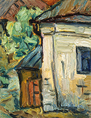 Dmitry Mikhailovich Krasnopevtsev. The corner of the house with shed