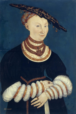 Lucas the Younger Cranach. Catherine of Mecklenburg (1487–1561), Duchess of Saxony. The art collection of the castle Coburg.