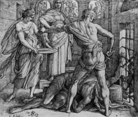 Юлиус Шнорр фон Карольсфельд. Казнь Иоанна Крестителя