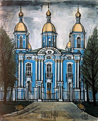 Bernard Buffet. Saint-Petersbourg : Eglise St Nicolas des Marins