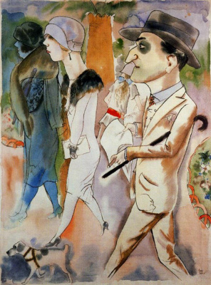 George Grosz. Spring in Paris