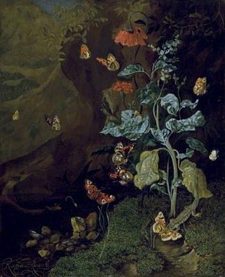 Рашель Рюйш. Насекомые и ящерица в лесу