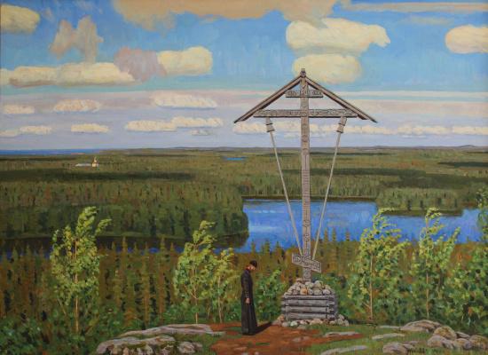 Eugene Alexandrovich Kazantsev. At the bow of the cross. On Solovki.