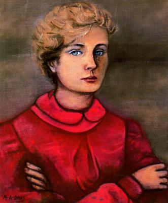 Данс Мария Антония Боадо. Женщина в красном платье с голубыми глазами