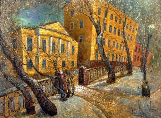 Vadim Viktorovich Maslennikov. Christmas Boulevard at Christmas