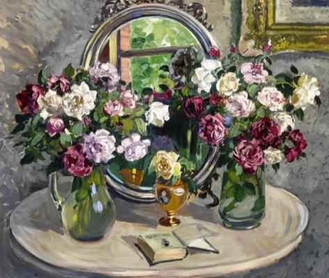 Alexander Mikhailovich Gerasimov. Flower still life