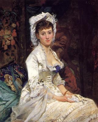 Ева Гонсалес. Портрет женщины в белом