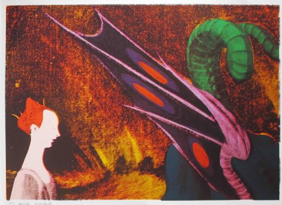Энди Уорхол. Детали картин Возрождения (Паоло Уччелло, Святой Георгий и Дракон)