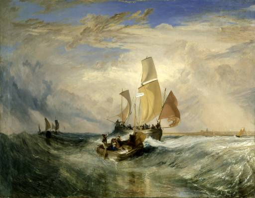 Joseph Mallord William Turner. Passengers on Board (Pas-de-Calais)
