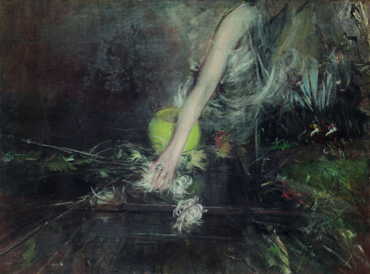 Giovanni Boldini. Hand and flower vase