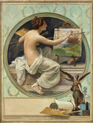 Francois Flameng. Allegory of painting.