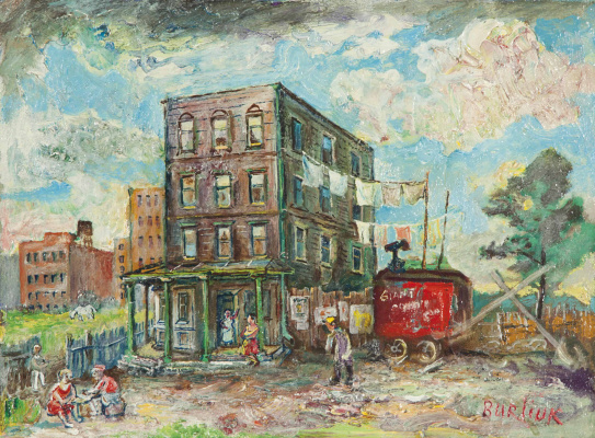 David Davidovich Burliuk. Bedford Avenue, Brooklyn
