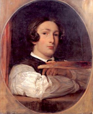 Frederic Leighton. Boy. Self portrait