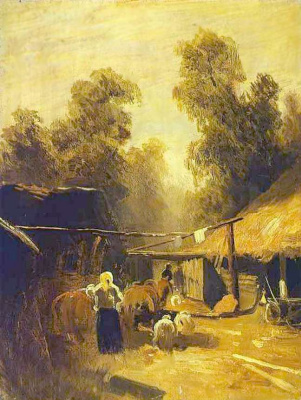 Fedor Alexandrovich Vasilyev. Village morning