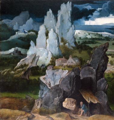 Joachim Patinir. Saint Jerome in a rocky landscape