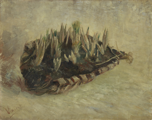 Винсент Ван Гог. Натюрморт с корзиной крокусов