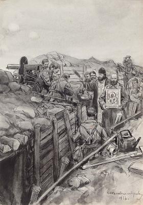 Иван Алексеевич Владимиров. Молебен перед боем