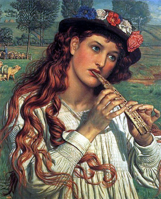 William Holman Hunt. Amaryllis (Cowgirl)