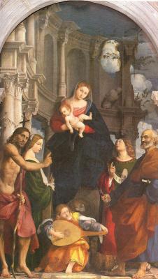 Джованни Антонио Порденоне. Дева с младенцем