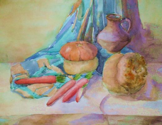 Натюрморт с морковками