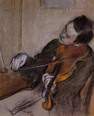 Edgar Degas. Violist