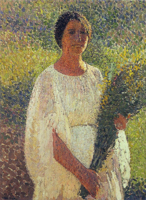 Henri Martin. Girl with flowers