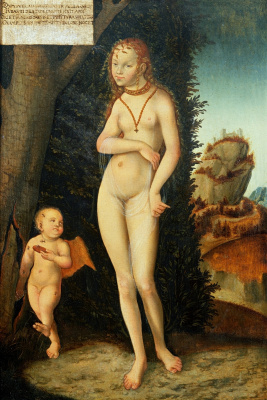 Lucas Cranach the Elder. Venus and Cupid stealing honeycomb