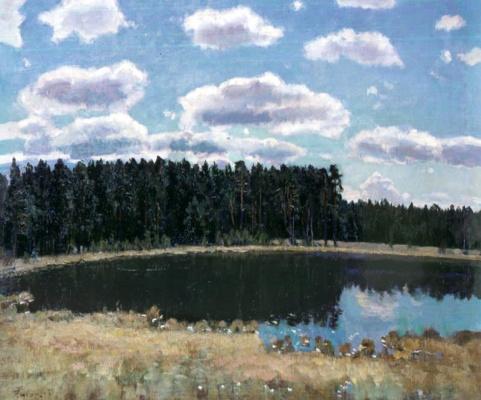 Stanislav Yulianovich Zhukovsky. Landscape with a lake