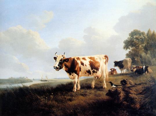 Генриетта Роннер-Книп. Луг с коровами