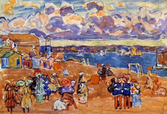 Морис Брэзил Прендергаст. Пляж в Сан - Мало