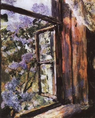 Valentin Aleksandrovich Serov. Open window. Lilac.