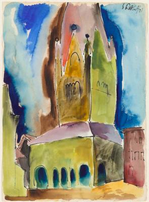 Karl Schmidt-Rottluff. The Gothic spire