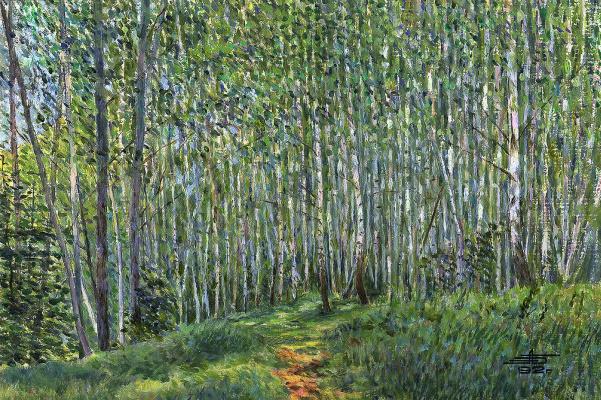 Andrei Ivanovich Borisov. Birch grove