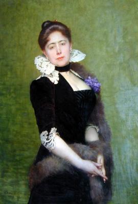 Jules Joseph Lefebvre. Portrait of a lady