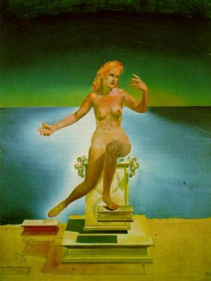 Salvador Dali. Atomic Leda (first version)